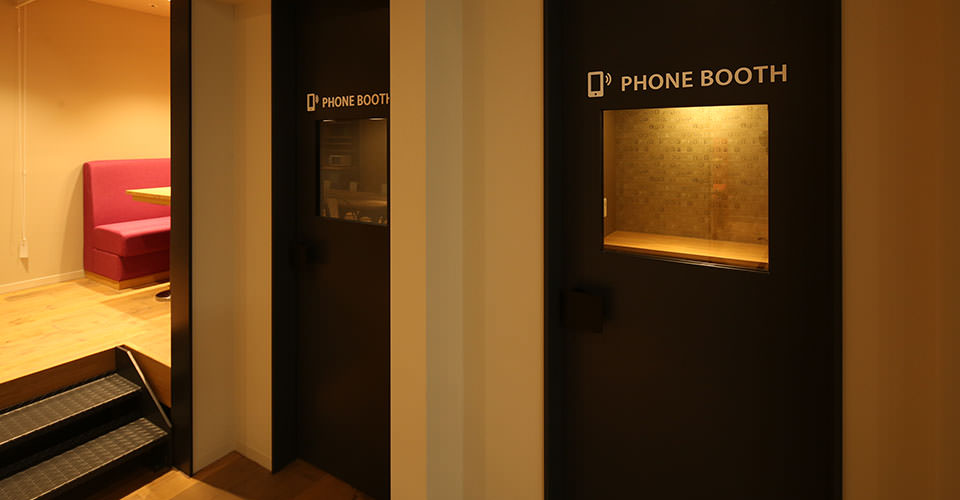 Phone booths available