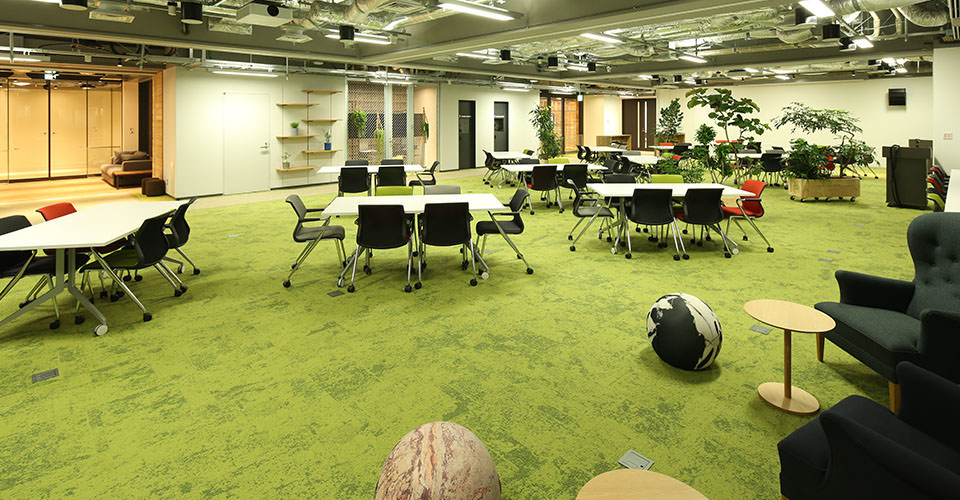 When there is no special event, the space can be used as a co-workspace