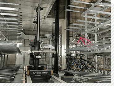 Large-scale Automated Bicycle Parking Facility